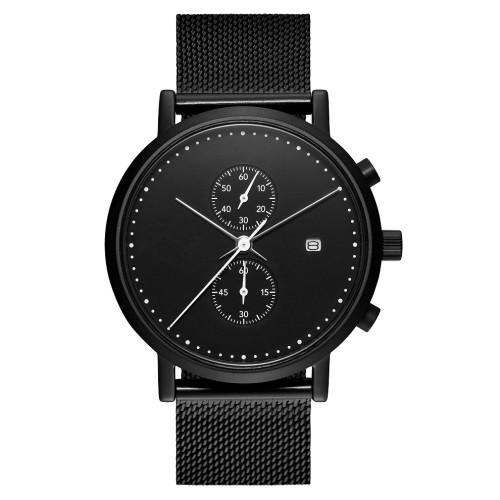 Chronograph Quarzwerk Armbanduhr Herren Edelstahl Material Armbanduhr