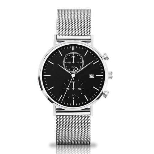 Personnalisez votre montre étanche pour homme en acier inoxydable avec logo