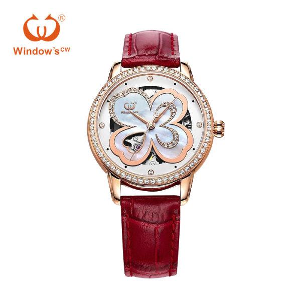 Moda personalizada mujer fabricante de relojes de lujo reloj automático