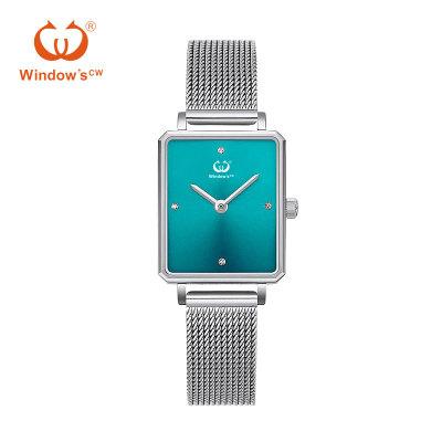 Benutzerdefinierte schlanke minimalistische quadratische Uhrenfabrik Hersteller