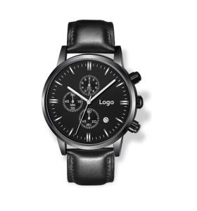 OEM Chronograph Uhr benutzerdefinierte Männer Chrono Leder Uhr