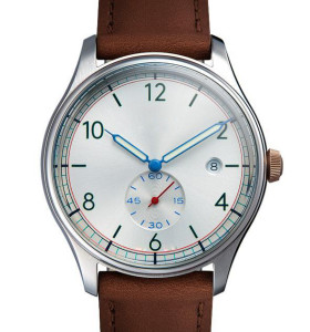 Full and top grain Italian leather band men watch from China watch factory
