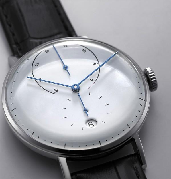 Mechanische armbanduhr vollautomatische top echtes leder mode wasserdichte uhr