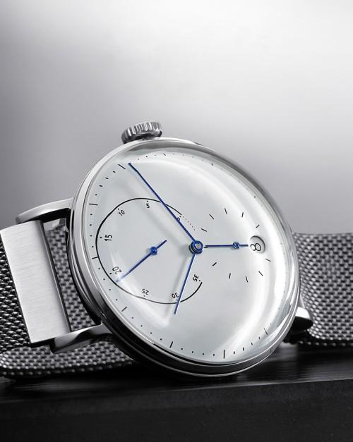 Reloj de pulsera mecánico reloj automático totalmente automático de cuero genuino a prueba de agua