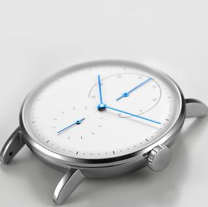 ساعة اليد الميكانيكية التلقائية بالكامل أعلى جلد طبيعي أزياء ووتش للماء