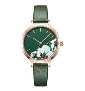 Zifferblatt-Armbanduhr des Druckens 3D fertigen Ihre modische Damenuhr des Logos besonders an