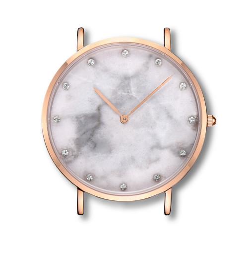 Marmoruhr Hersteller benutzerdefinierte Marmor Zifferblatt minimalistischen Natursteinuhr