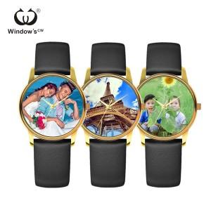 Custom your own design Private Label Bild Uhr Geschenk Uhr