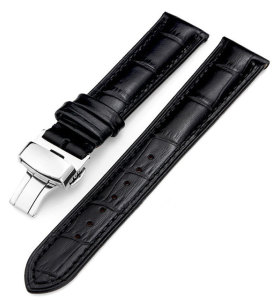Cinturino per orologio in vera pelle di coccodrillo a grana fine personalizzato