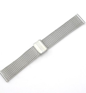 العرف الفولاذ المقاوم للصدأ شبكة حزام ساعة المورد