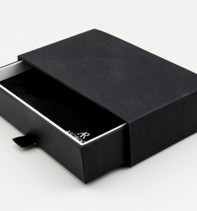 High quality all black square shape leather material watch package box with pu  pillow