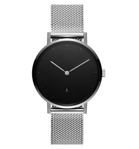 Uhr mit schmalem Netzarmband im OEM-Minimal-Design vom Hersteller einer Spezialuhr
