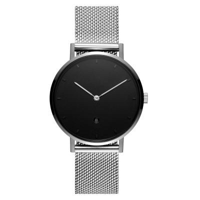 Reloj de correa de malla delgada de diseño minimalista OEM del fabricante de relojes personalizados