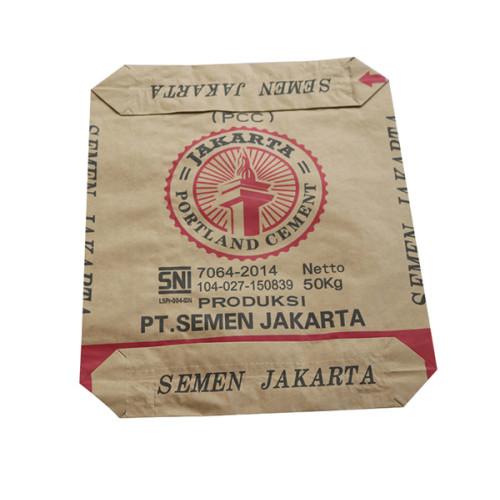 25kg 50kg Logo Print 3 Ply Kraft Paper Valve cement Bag