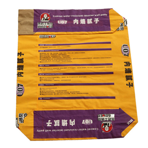 bolsa de papel kraft biodegradable para empaque de polvo de harina de arena de cemento