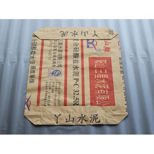 Customize Eco-Friendly Cement Heat Seal Packaging Valve Kraft Paper Bag