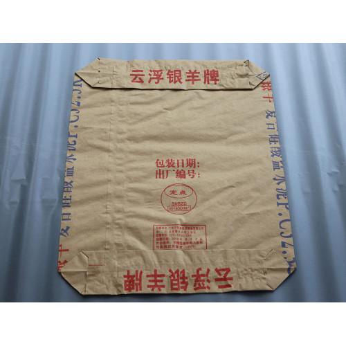 25kg 50kg Fabricación personalizar bolsa de cemento de válvula de papel kraft cuadrado