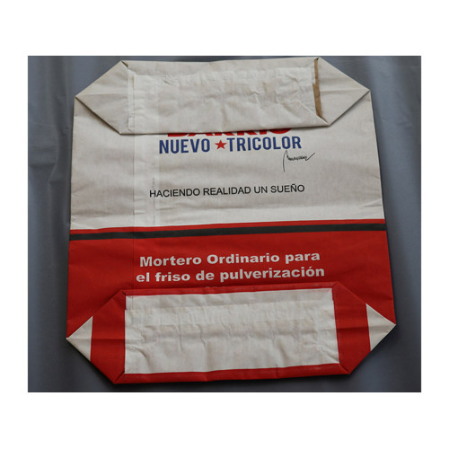 Accept Custom Block Bottom Kraft Paper Film Valve Bag cement kraft paper bag
