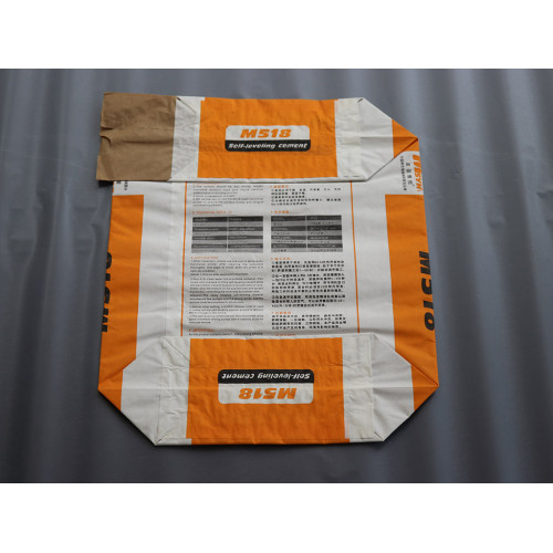 Bolsa de cemento de papel kraft biodegradable de 490 mm de ancho de alta calidad