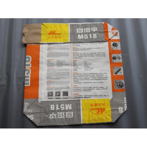 High Quality Factory 50kg Kraft Paper Cement Plastic Valve Bag