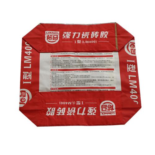 Özelleştirilmiş 25 kg 50 kg kuru harç için kağıt çimento ambalaj çanta, alçı, duvar macun tozu, fayans yapıştırıcısı