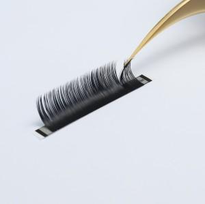 natural eyelashes private label Super Soft Individual 3D False Eyelash Extensions
