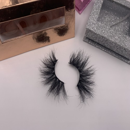 lash packaging design Big Dramatic Thick Mink Fur Eyelash 25mm 3d Eyelash 6d Mink Eyelashes