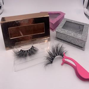 lash packaging fast shipping Handmade 3D 5D Mink Strip Lashes 25mm 3d Mink Eyelashes