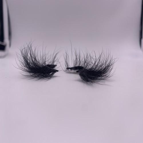 25mm mink eyelashes Natural Black Color Fluffy Lash Real Mink Fur 3d 25mm Full Strip Eyelashes Mink Lashes