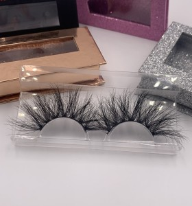 25 mink fur lashes Brand New Design Private Label Best Sale 25mm Natural 3d Mink Eyelashes