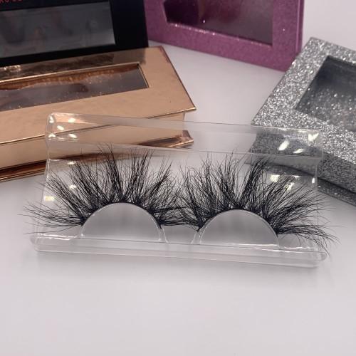 25 mink fur lashes Brand New Design Private Label Best Sale 25mm Natural 3d Mink Eyelashes