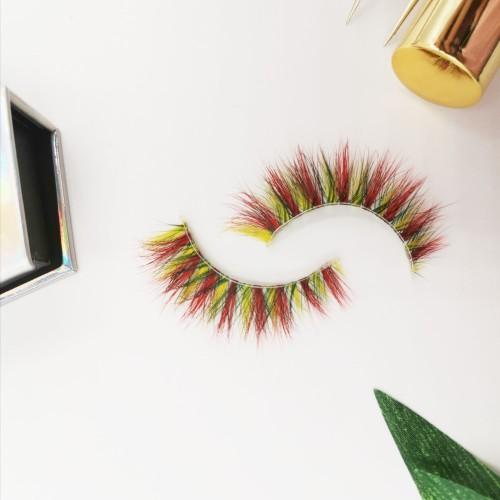 creme eyelashes wholesale customize packaging fashion Fluffy cruelty free full strip lashes 3d mink eyelashes