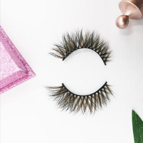 Wholesale Free Shipping Private Label Custom Logo 100% Real Fur Lashes individual eyelashes single