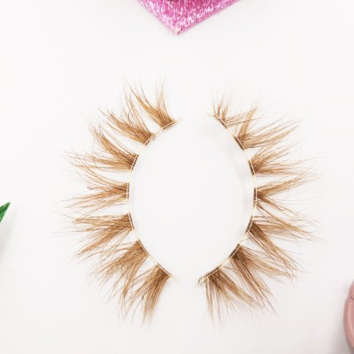 100% Natural Material Hand-made real mink eyelashes wholesale With Custom Eyelash Package