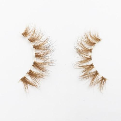 100% Natural Material Hand-made real mink eyelashes wholesale With Custom Eyelash Package