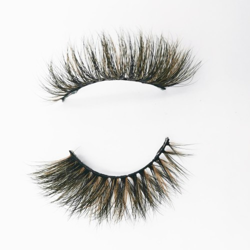 New High Quality Black Thick And Long Natural Luxury Hand Made reusable mink eyelashes
