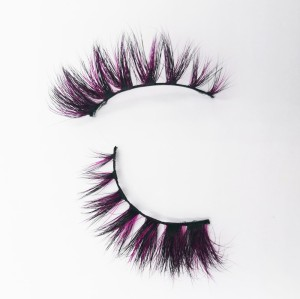 Wholesale Private Label Natural Black Long Handmade Lashes 25mm eyelashes mink fur