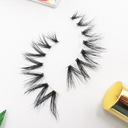 Making By Hand Mink Lahes Private Label Natural Black human hair eyelashes natural