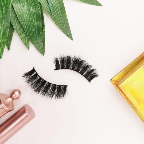 Customized Packaging Box Natural Long Makeup Handmade 3D Silk eyelashes mink wholesale