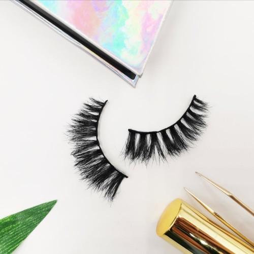 Own Brand Private Label 100% Handmade False Eyelash Lashes synthetic hair eyelashes