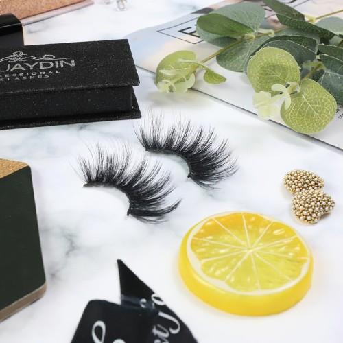 handmade custom packaging High Quality100% 3D silk eyelashes handmade