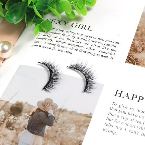 3d Silk Eyelashes Qingdao Fashion Unique Beauty New Self-Adhesive Individual eyelashes for wholesale