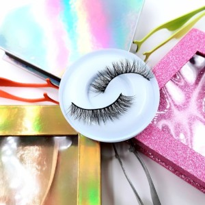 Natural Material Fashion Beauty 3d Mink Faux Lashes With Custommink eyelashes vendor