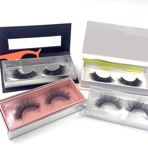 Best 3d Mink Eyelashes Natural Custom Packaging Private Label eyelashes with rhinestone