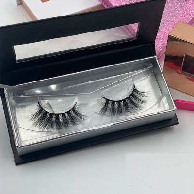 eyelash empty packaging Real 3d Mink Fur Lashes, Custom Packaging Box Long Lasting