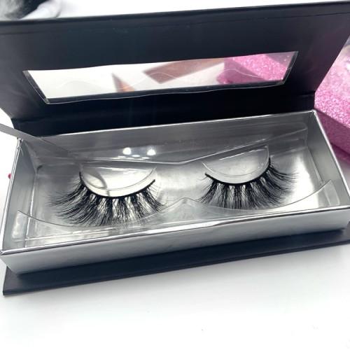 eyelash empty packaging Real 3d Mink Fur Lashes, Custom Packaging Box Long Lasting