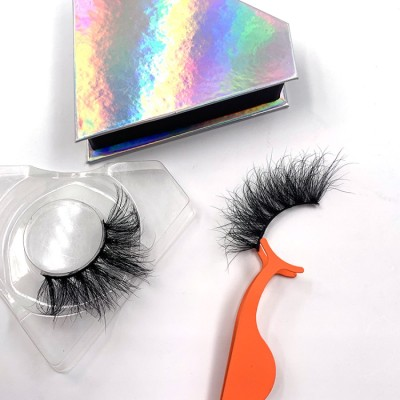 Best Mink Eyelashes Vendor 100% Real Mink Fur Eyelashes Long Lasting 25mm 3d Mink Eyelash