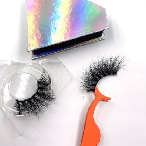 Best Mink Eyelashes Vendor 100% Real Mink Fur Eyelashes Long Lasting 25mm 3d Mink Eyelash