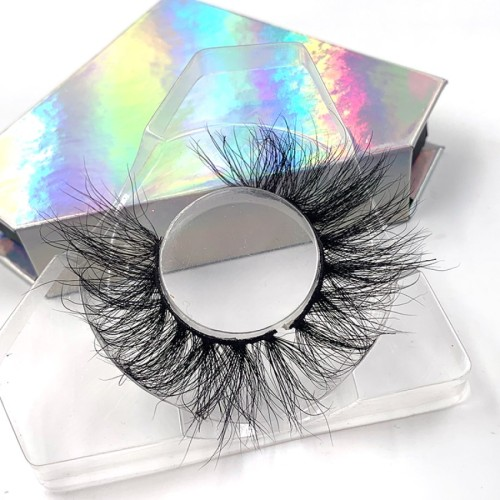 Hand Made Lashes 3d Layered Effect 25mm 3d mink strip eyelashes For Sale