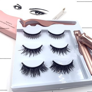How to wear magnetic eyelash quickly?